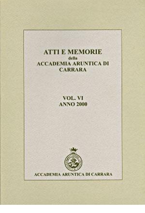 Atti e Memorie della Accademia Aruntica di Carrara