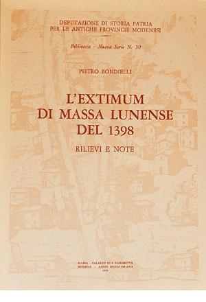 L'Extimum di Massa Lunense del 1398