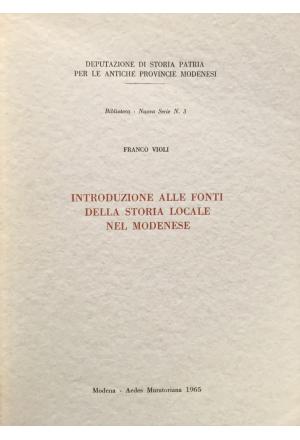 Introduzione alle fonti della storia locale modenese
